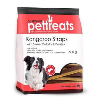 Australian Pettreats Straps Kangaroo With Sweet Potato And Parsley Treats For Dogs 500gm