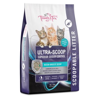 Trouble & Trix Ultra Scoop Ocean Breeze Cat Litter 10lt 10kg