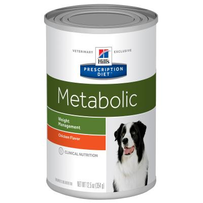 Hills Prescription Diet Canine Metabolic Weight Management Chicken Canned Wet Dog Food 370gm x 12 (1957)