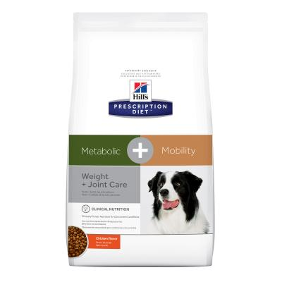 Hills Prescription Diet Canine Metabolic + Mobility Weight Plus Joint Care Chicken Dry Dog Food 10.8kg (10044)