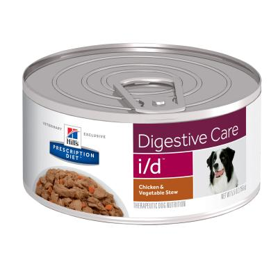 Hills Prescription Diet Canine i/d Digestive Care Chicken & Vegetable Stew Canned Wet Dog Food 156gm x 24 (3390)