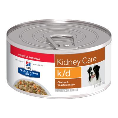 Hills Prescription Diet Canine k/d Chicken Vegetable Stew 156gm x 24 Canned Wet Dog Food (3396)