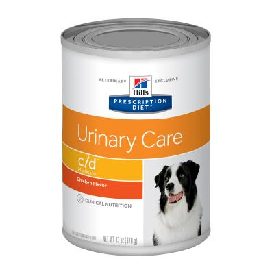 Hills Prescription Diet Canine c/d Urinary Care Multicare Chicken Canned Wet Dog Food 370gm x 12 (7001)