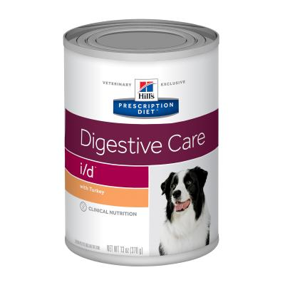 Hills Prescription Diet Canine i/d Digestive Care Turkey Canned Wet Dog Food 370gm x 12 (7008)