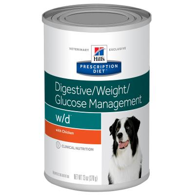 Hills Prescription Diet Canine w/d 370gm x 12 Canned Wet Dog Food (7017)