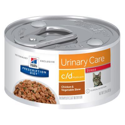 Hills Prescription Diet Feline c/d Urinary Care Urinary Stress Canned Wet Cat Food 82gm x 24 (3387)