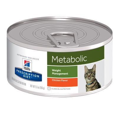 Hills Prescription Diet Feline Metabolic Chicken Canned Wet Cat Food 156gm x 24 (1958)