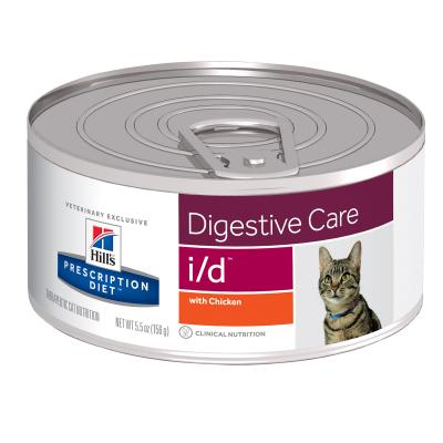 Hills Prescription Diet Feline i/d Digestive Care Chicken Canned Wet Cat Food 156gm x 24 (4628)