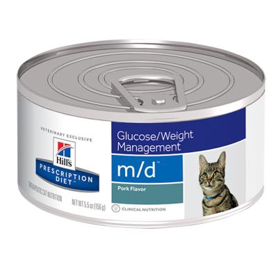 Hills Prescription Diet Feline m/d 156gm x 24 Canned Wet Cat Food (4281)