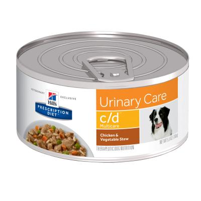 Hills Prescription Diet Canine c/d Urinary Care Chick & Veg Stew Canned Wet Dog Food 156gm x 24 (3388)