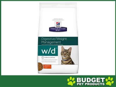 Hills Prescription Diet Feline w/d Dry Cat Food 1.5kg (10367HG)
