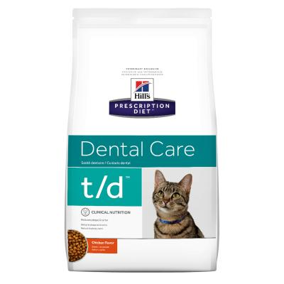 Hills Prescription Diet Feline t/d Dry Cat Food 3kg (10364HG)