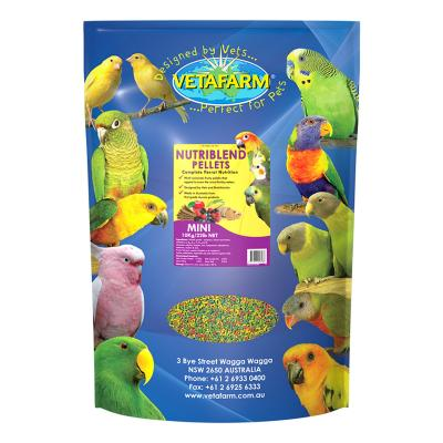 Vetafarm Nutriblend Pellets Mini Complete Food For Small Medium Parrot Birds 10kg