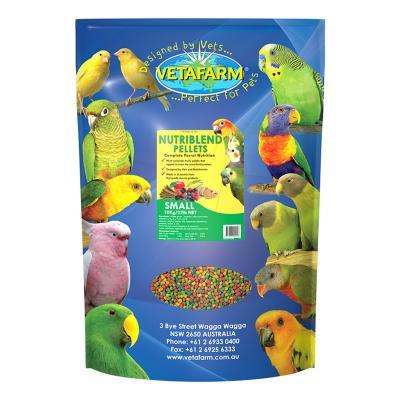 Vetafarm Nutriblend Pellets Small Complete Food For Medium Parrot Birds 10kg