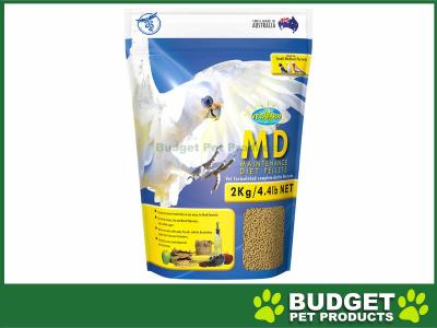 Vetafarm MD Maintenance Diet Parrot Pellets Complete Food For Small Medium Parrot Birds 2kg
