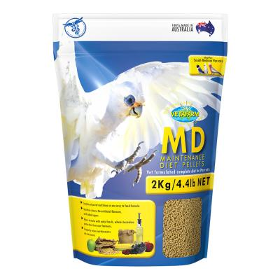 Vetafarm MD Maintenance Diet Parrot Pellets Complete Food For Small Medium Parrot Birds 2kg