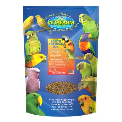 Vetafarm South American Mix Complete Food For Conure Amazon Macaw Birds 10kg