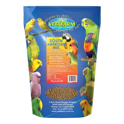 Vetafarm South American Mix Complete Food For Conure Amazon Macaw Birds 2kg
