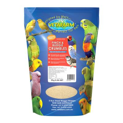Vetafarm Finch And Budgie Crumbles Balanced Diet Food For Birds 2kg