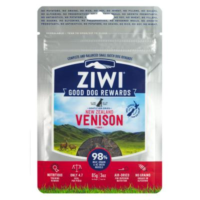 Ziwi Peak Good Dog Rewards Venison Air Dried Meat Treats For Dogs 85gm