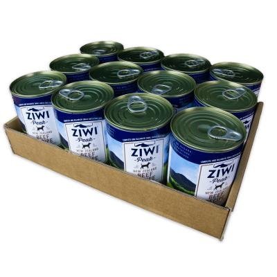Ziwi Peak Grain Free Beef Puppy And Adult Canned Wet Meat Dog Food 12 x 390gm