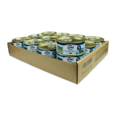 Ziwi Peak Grain Free Mackerel And Lamb Kitten And Adult Canned Wet Meat Cat Food 24 x 85gm
