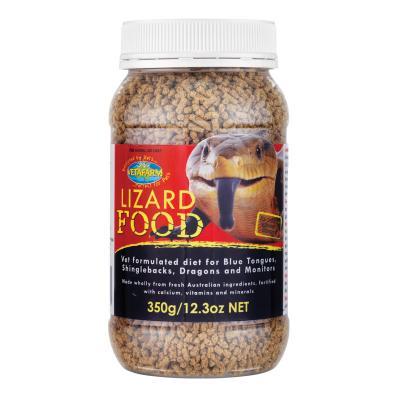 Vetafarm Lizard Vet Formulated Food For Skinks Dragons And Monitors Lizards 350gm