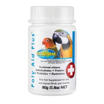 Vetafarm Poly-Aid Plus First Aid Supplement For Birds Small Animals 80gm