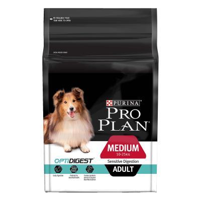 Pro Plan Optidigest Sensitive Digestion Medium Breed Adult Dry Dog Food 2.5kg