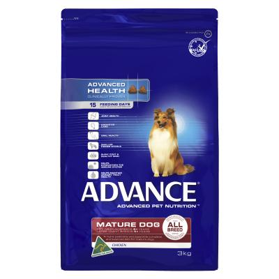 Advance All Breed Chicken Mature/Senior Dry Dog Food 3kg