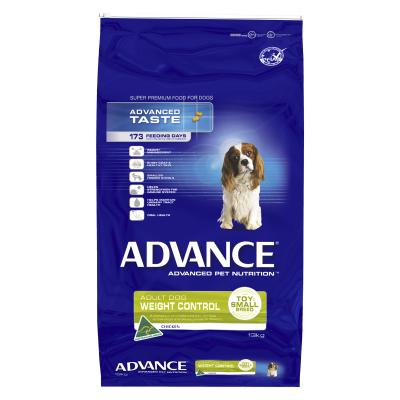 Advance Weight Control Toy/Small Breed Chicken Adult Dry Dog Food 13kg