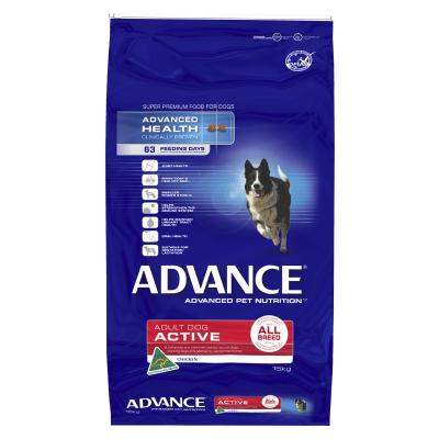 Advance Active All Breed Chicken Adult Dry Dog Food 15kg