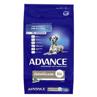 Advance Dermocare Sensitive Skin And Coat All Breed Tuna And Rice Adult Dry Dog Food 15kg