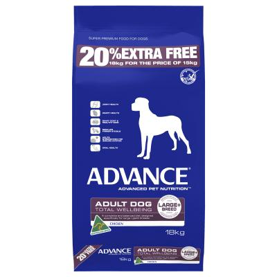 *** 20% FREE ***Advance K9 Dry Adult Large/Giant Breed Chicken 18kg