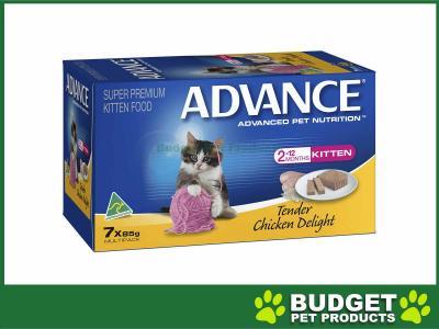 Advance Tender Chicken Kitten Canned Wet Cat Food 85gm x 7