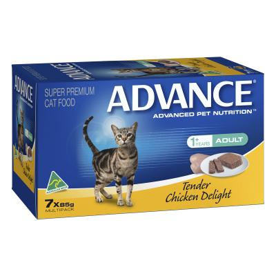 Advance Tender Chicken Adult Canned Wet Cat Food 85gm x 7
