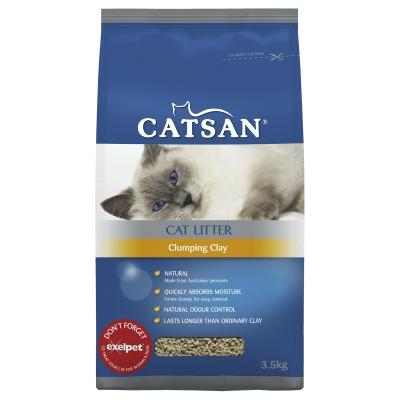 Catsan Clumping Clay Litter For Cats 3.5kg
