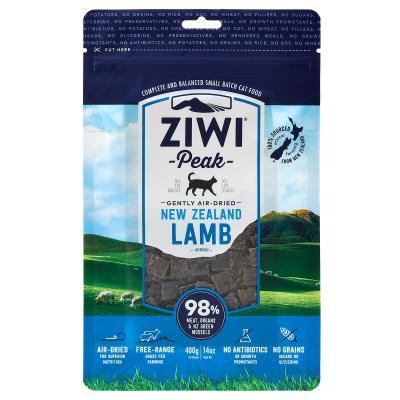 Ziwi Peak Grain Free Lamb Kitten And Adult Air Dried Meat Cat Food 400gm