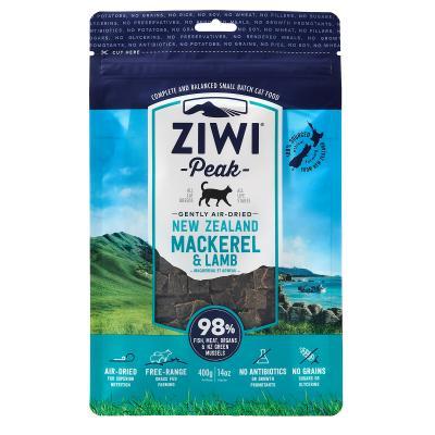Ziwi Peak Grain Free Mackerel And Lamb Kitten And Adult Air Dried Meat Cat Food 400gm