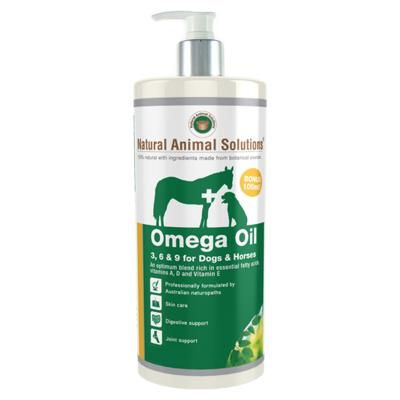 Natural Animal Solutions Omega 3,6 & 9 Oil For Dogs And Horses 1L
