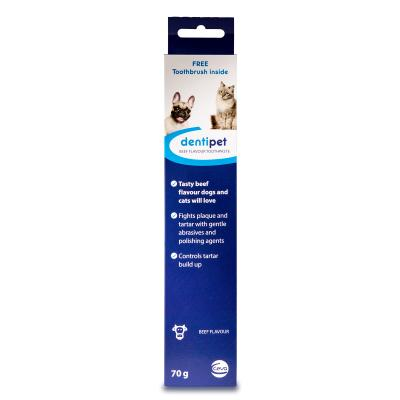 Dentipet Toothpaste And Toothbrush Kit Beef For Cats And Dogs 70gm