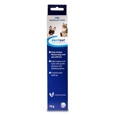 Dentipet Toothpaste And Toothbrush Kit Chicken For Cats And Dogs 70gm