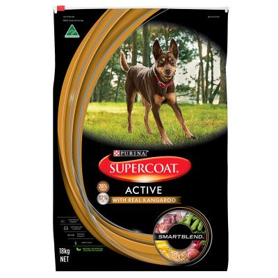 Supercoat Active Real Kangaroo Adult Dry Dog Food 18kg