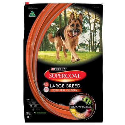 Supercoat Real Chicken Large Breed Adult Dry Dog Food 18kg
