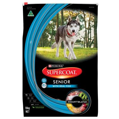 Supercoat Real Fish Senior Dry Dog Food 18kg