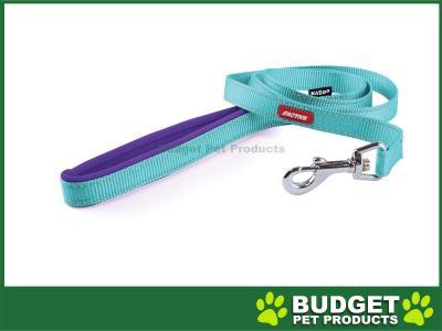 Kazoo Active Nylon Reflective Lead Aqua Purple 1200 x 15mm For Dogs