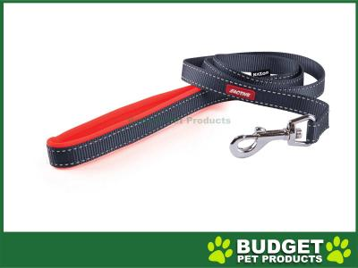 Kazoo Active Nylon Reflective Lead Slate Grey Orange 1200 x 25mm For Dogs