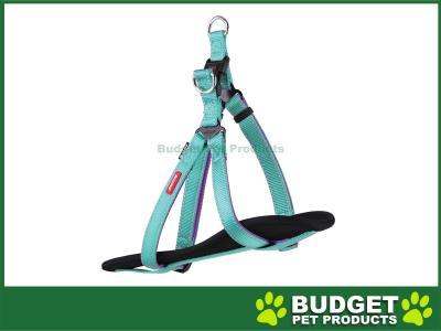 Kazoo Active Nylon Reflective Walking Harness Aqua Purple Large XLarge 77-99cm x 25mm For Dogs