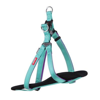 Kazoo Active Nylon Reflective Walking Harness Aqua Purple Large XLarge 77-99cm x 25mm For Dogs