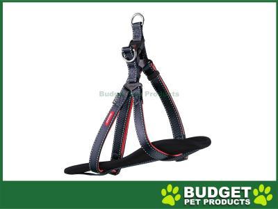 Kazoo Active Nylon Reflective Walking Harness Slate Grey Orange Large XLarge 77-99cm x 25mm For Dogs